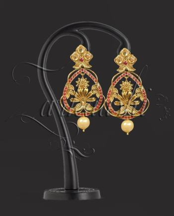 BEST EARRING WITH RED STONES