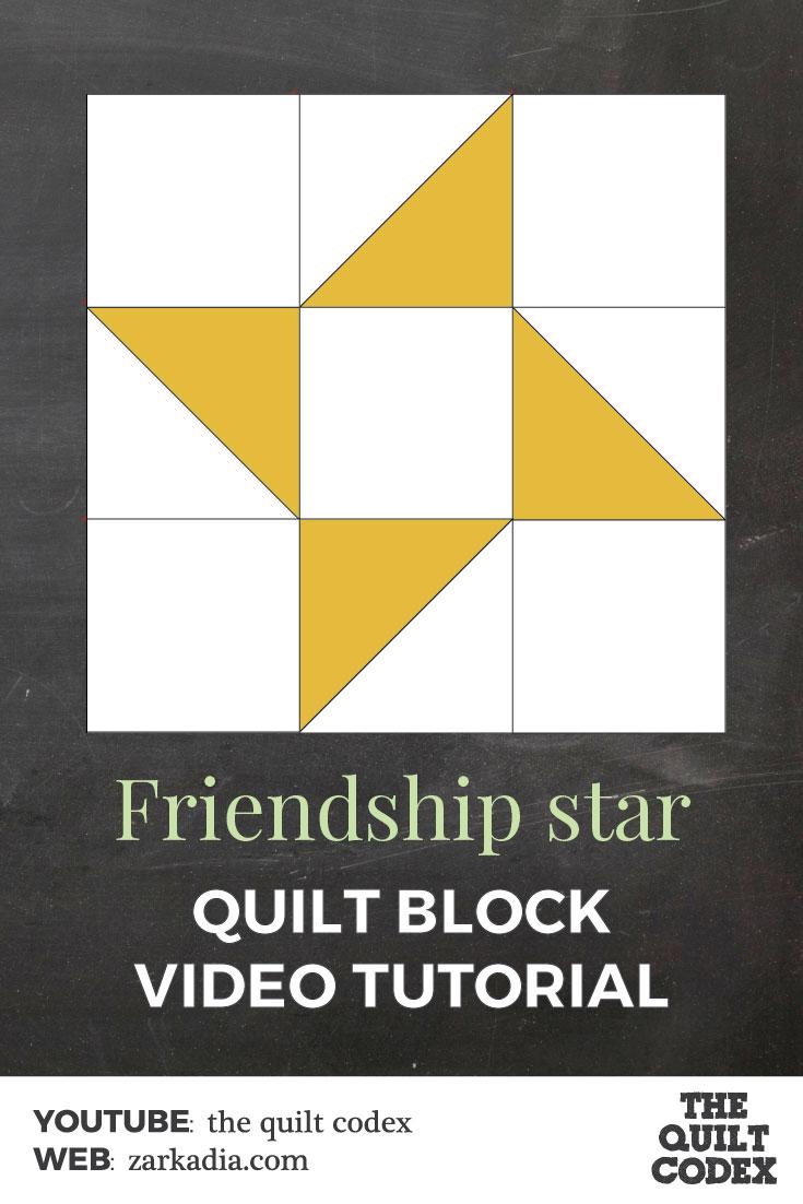 Friendship star quilt block tutorial
