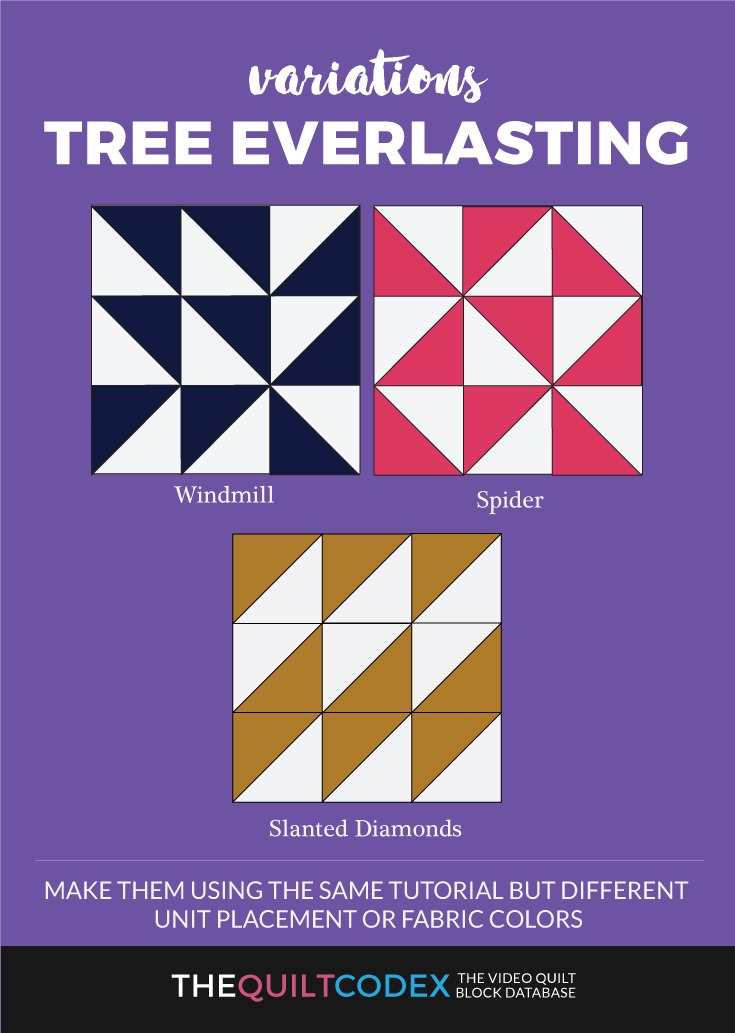 Tree everlasting quilt block variations
