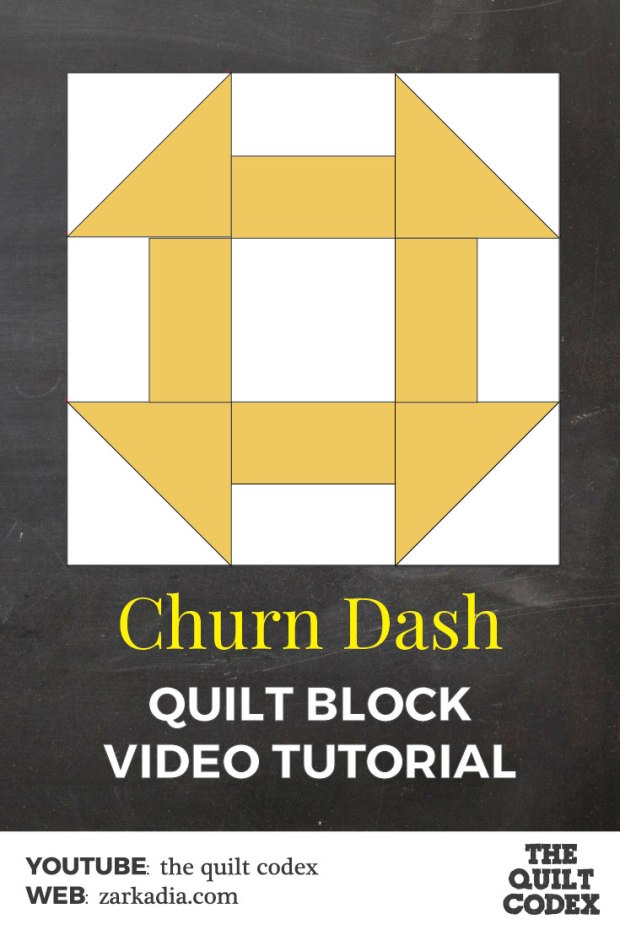 churn dash quilt block tutorial