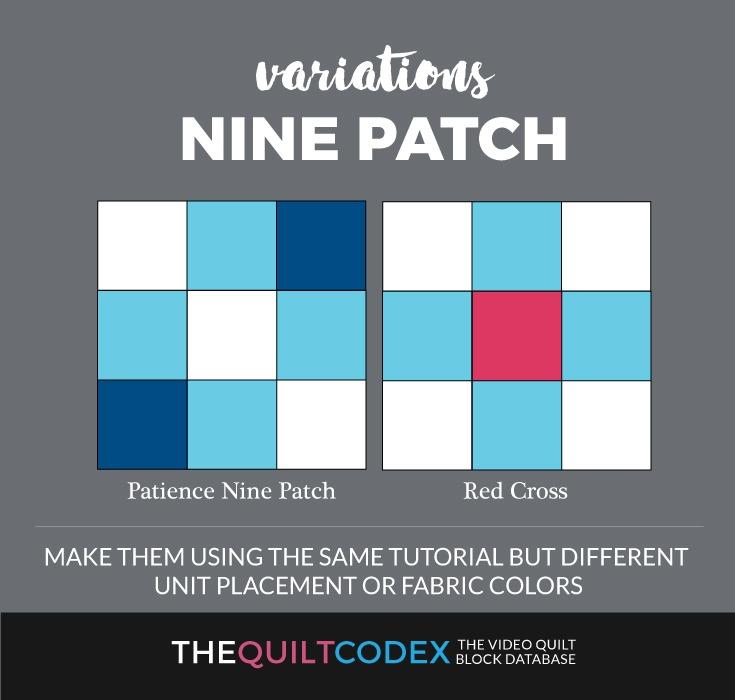 Nine Patch quilt block variations