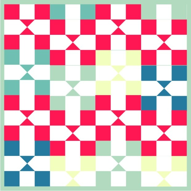 Practical orchard quilt block