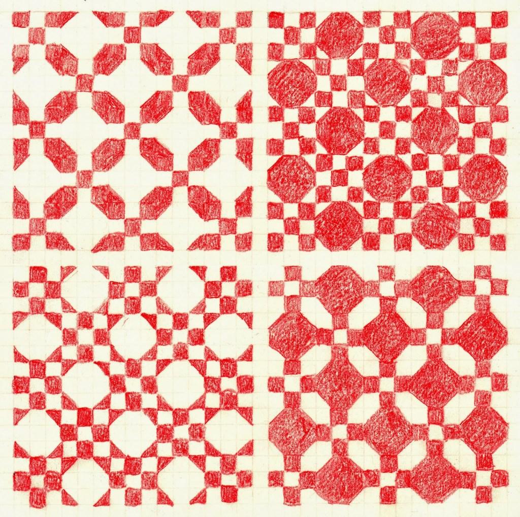 Flagstones quilt block