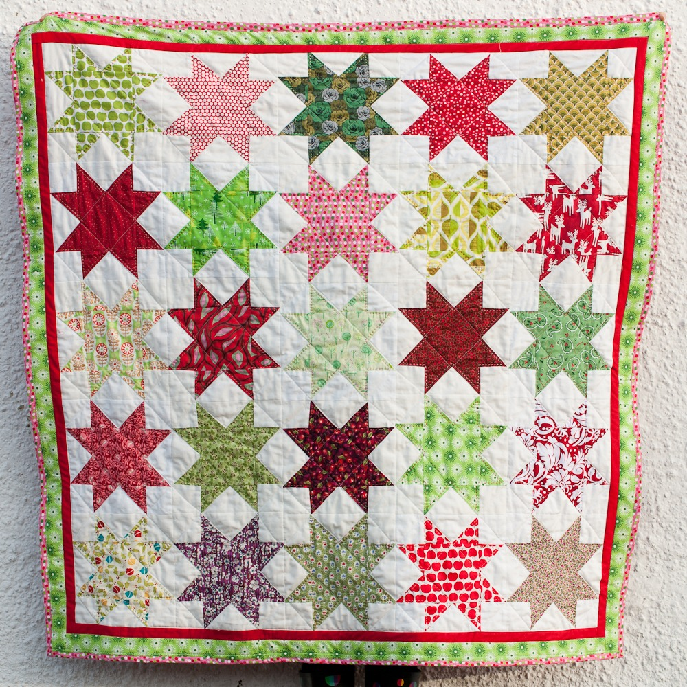 Eight point star quilt block