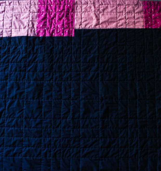 modern Back of quilt