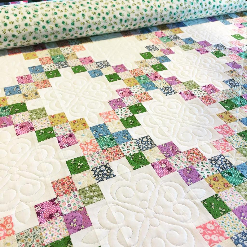 double irish chain quilt scrappy