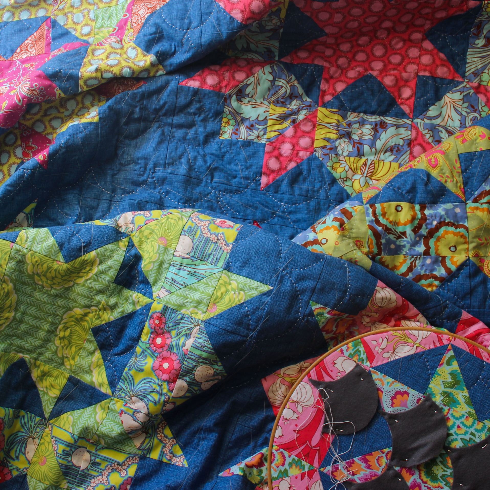 Swoon handquilting process