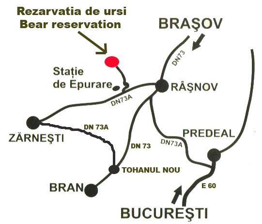 Harta Rezervatia de ursi, Zarnesti