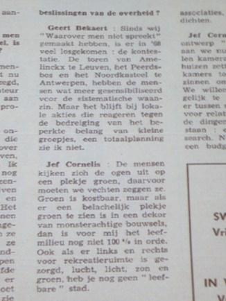 Geert Bekaert in Humo 1969 citaat 2/2