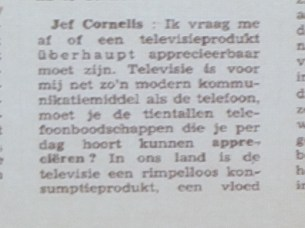 Jef Cornelis in Humo 1969 citaat 1/6