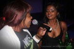 Dambisa pulling the songbirds out of the crowd at the Valentines Day Bash | Scarlet Ribbon