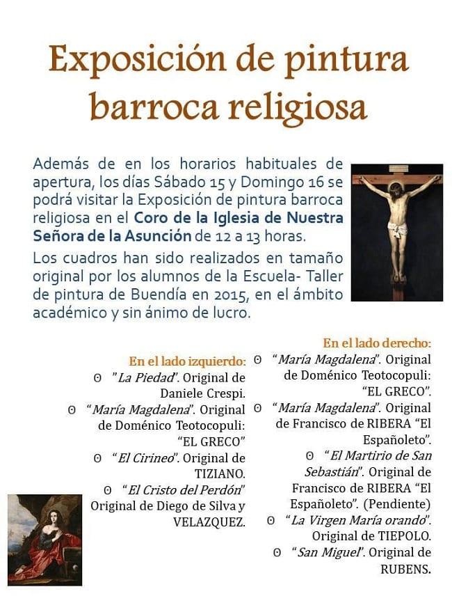 Exposición de pintura barroca en Buendía