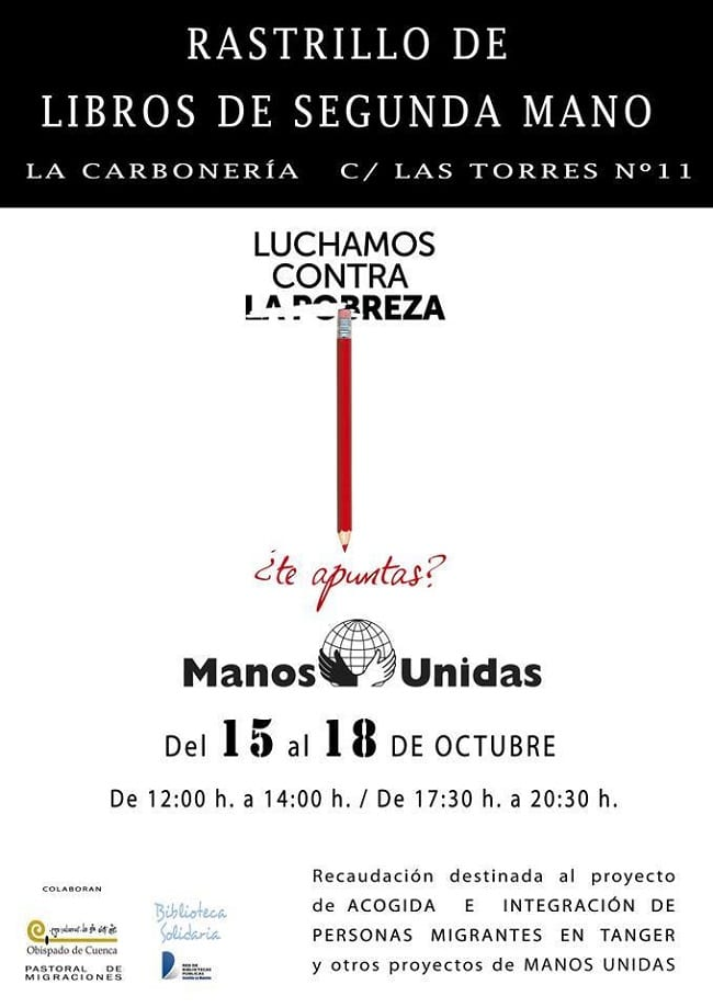 Rastrillo de libros de segunda mano en Cuenca