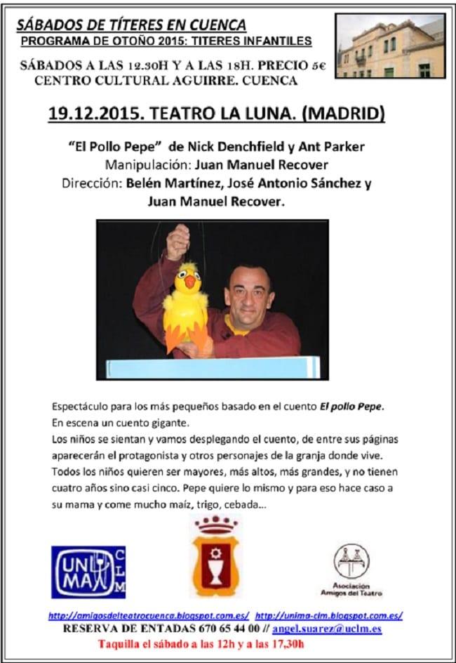 El pollo Pepe, títeres en Cuenca