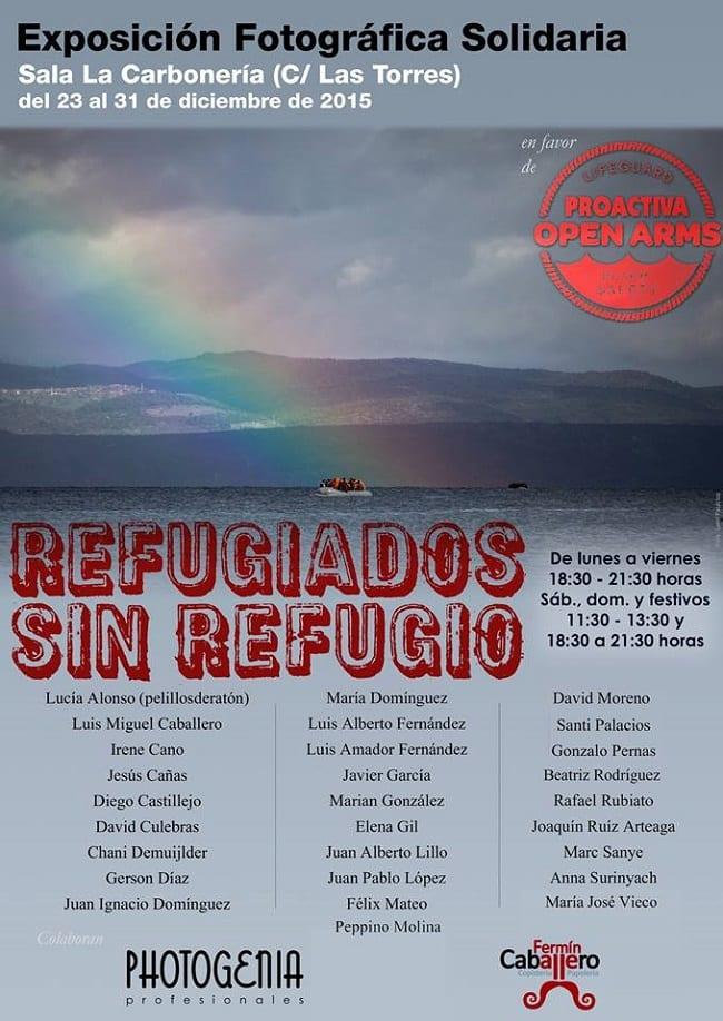 """Exposición fotográfica solidaria """"Refugiados sin refugio"""""""