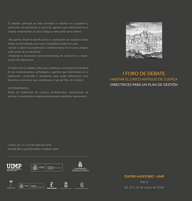 I Foro debate habilitar el casco antiguo de Cuenca