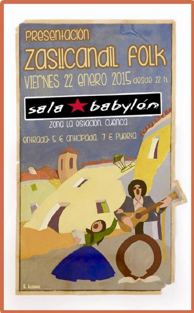 Zas!!Candil Folk en la sala Babylon de Cuenca