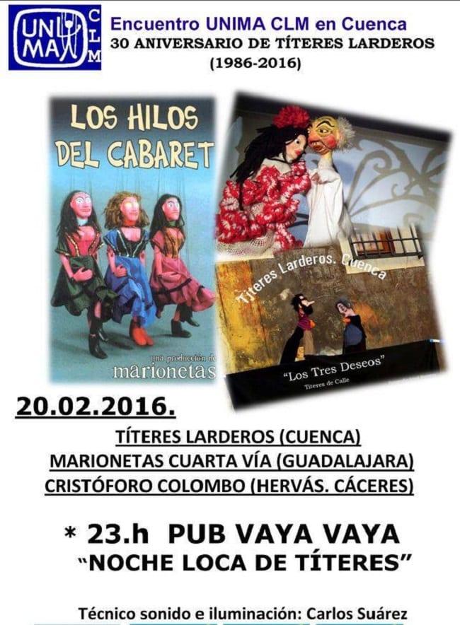 Noche loca de títeres en Cuenca