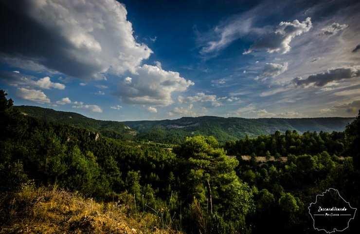 Vistas desde la carretera de Poyatos