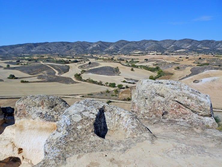 Sierra de Altomira desde el yacimiento de La Cava