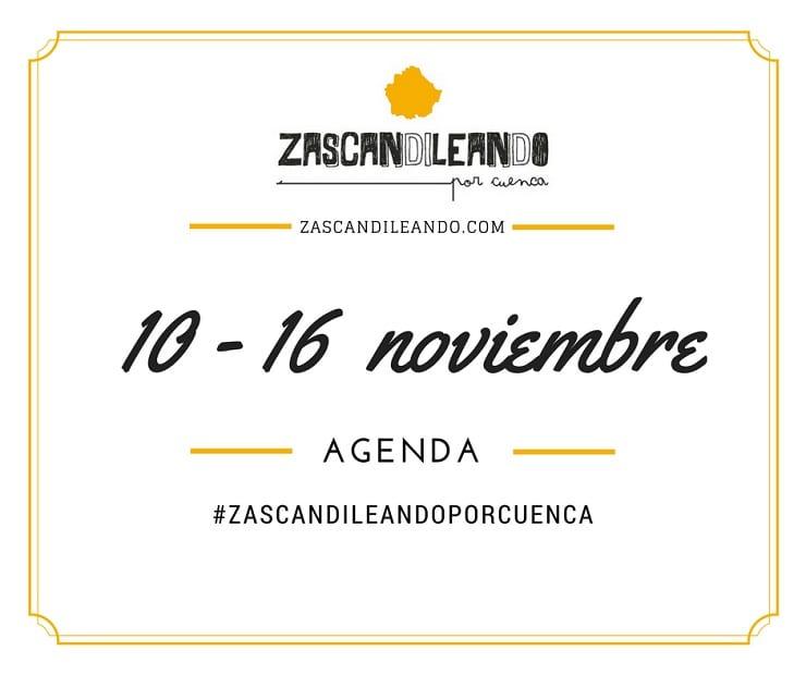 Agenda del 10 al 16 de noviembre de 2016 en Cuenca