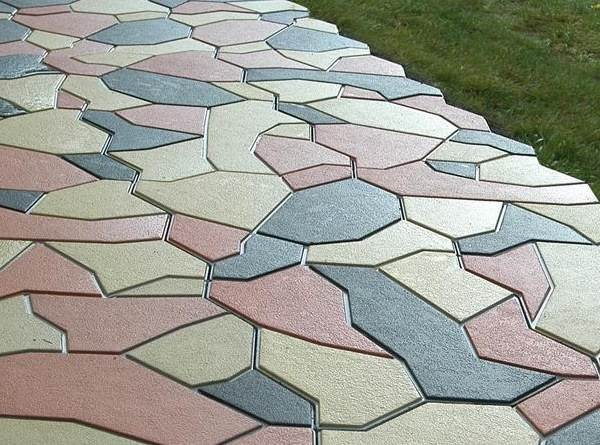 Виды тротуарной плитки с фото: укладка, формы