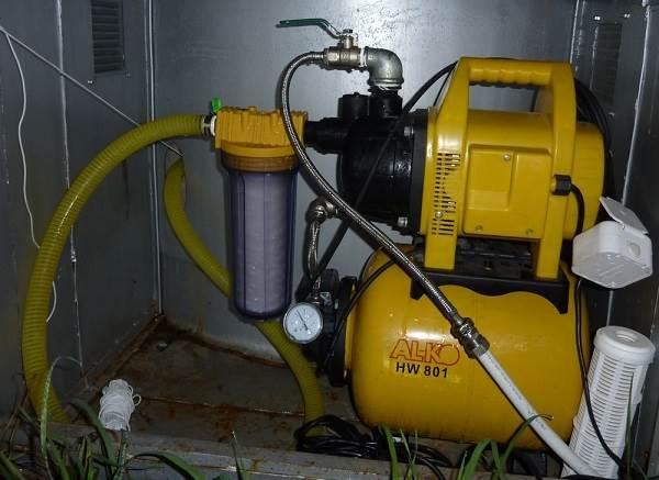 Водонасосная станция в частном доме