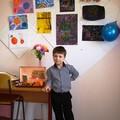 """На фото Сергей Вознюк на занятие  в объединении """"Основы дизайна""""."""