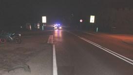 Zdjęcie z wypadku w Łękach | fot. KPP Oświęcim