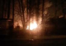 pożar łęki 17 stycznia 2015 r.