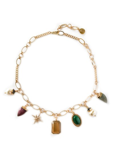 KETTING MET BEDELS - MULTI COLOR - N19FW086 - ZATTHU JEWELRY