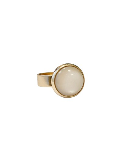 ANNA RING MET STEEN - CHAMPAGNE - N20SS141 - ZATTHU JEWELRY