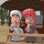 render chars1 - Al Dhaid Cricket Village