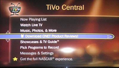 CNET on TiVo