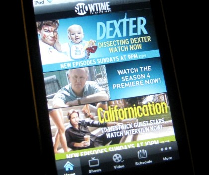 Showtime iPhone app