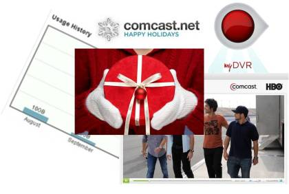 Comcast xfinity tv everywhere remote dvr scheduling bandwidth usage meter gifts