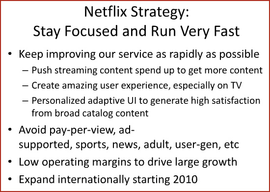 netflix recently launched a very interesting presentation on their employment page that describes their ongoing evolution from physical media distributor to