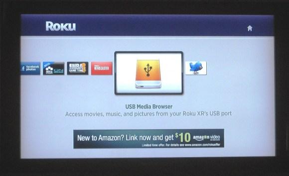 Roku XR USB channel