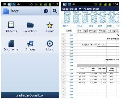 Native Android Google Docs App Finally Available