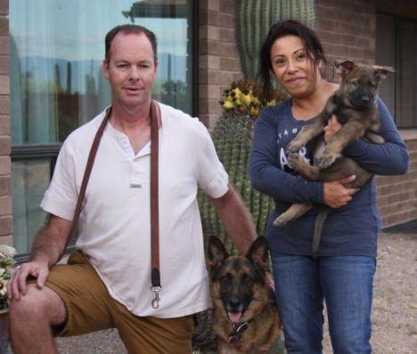 Proud new owners of the German Shepherd Puppy Vito Volker vom Zauberberg