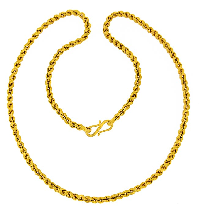 gold chains plain gold chains gold rope chain 19 inch code asch50454