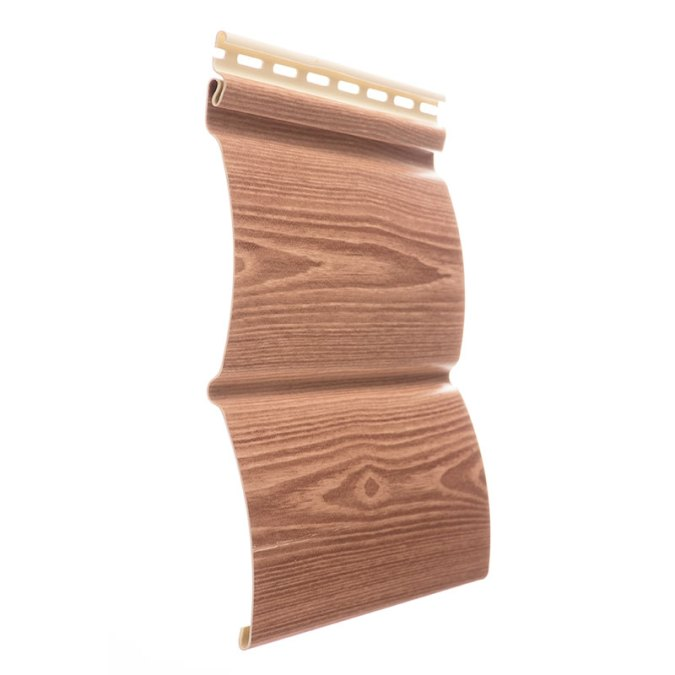 Сайдинг WoodSlide - цвет Рябина - ZAVODKM