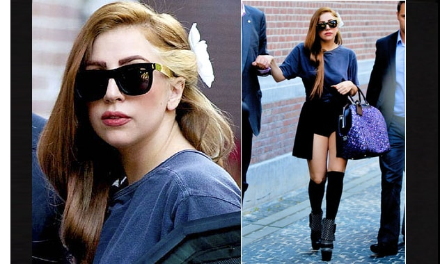 "Lady Gaga Goes Back to Being a Brunette and Dyes Her Hair ""Louis Vuitton Brown"""