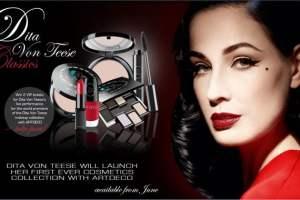 Dita Von Teese debuts cosmetics