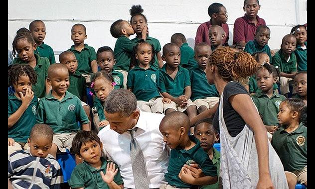 Barack Obama Gets Photobombed by a Little Boy