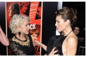 Helen Mirren, Jessica Biel Get Handsy At 'Hitchcock' Premiere  3