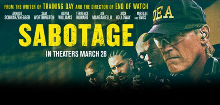 --CLOSED--SABOTAGE - VIP Movie Premiere Giveaway--CLOSED--