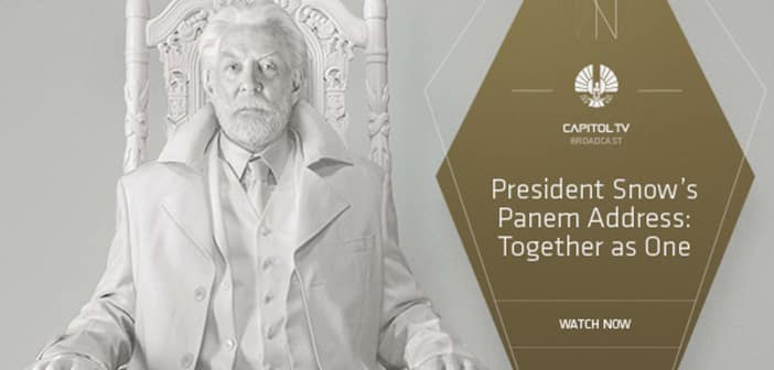 "President Snow Address Panem With ""Together as One"" Speech 6"