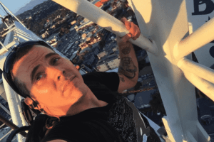 Steve-O Detained After Climbing A Crane and Shooting Off Fireworks