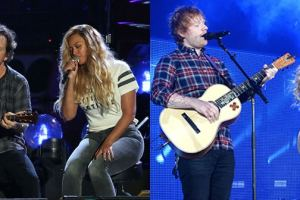 Beyonce Makes Two Stunning Duets With  Eddie Vedder & Ed Sheeran At The Global Citizen Festival